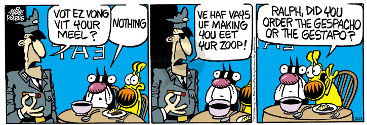 Comic Strip Mike Peters  Mother Goose and Grimm 2015-02-21 wrong