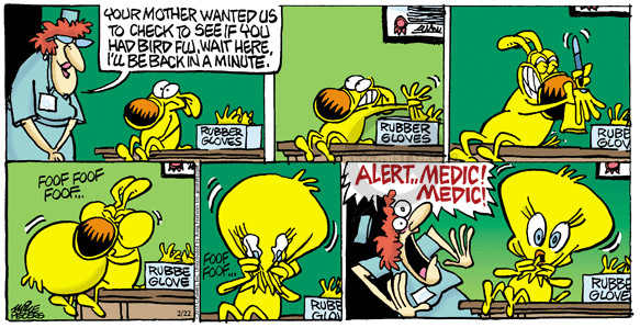 Cartoonist Mike Peters  Mother Goose and Grimm 2015-02-22 medical