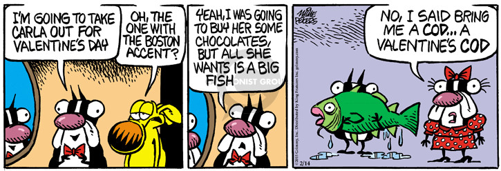 Comic Strip Mike Peters  Mother Goose and Grimm 2015-02-14 fish