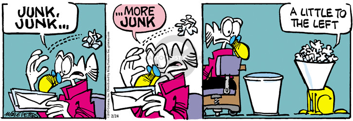 Comic Strip Mike Peters  Mother Goose and Grimm 2015-02-24 trash can