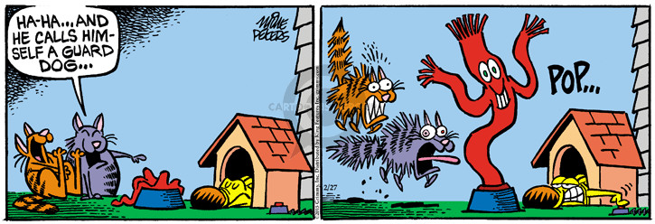 Comic Strip Mike Peters  Mother Goose and Grimm 2015-02-27 guard dog