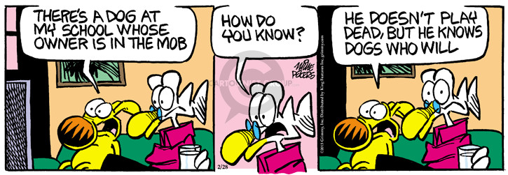 Comic Strip Mike Peters  Mother Goose and Grimm 2015-02-28 dog trick