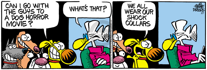 Comic Strip Mike Peters  Mother Goose and Grimm 2015-03-07 horror movie