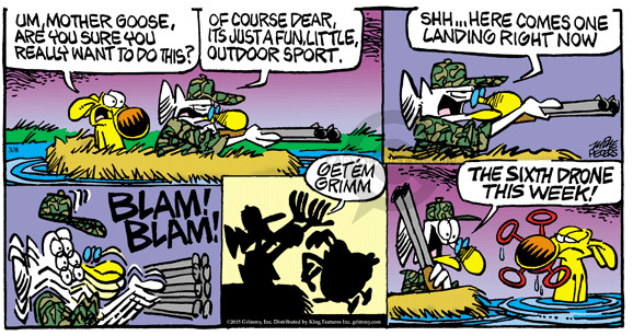 Comic Strip Mike Peters  Mother Goose and Grimm 2015-03-08 shot