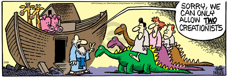 Cartoonist Mike Peters  Mother Goose and Grimm 2015-03-10 biblical