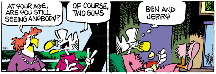 Comic Strip Mike Peters  Mother Goose and Grimm 2015-03-13 two guys