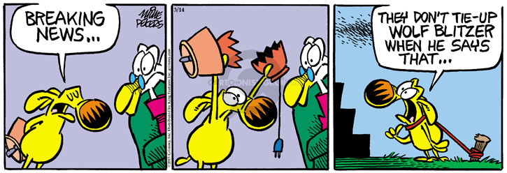 Comic Strip Mike Peters  Mother Goose and Grimm 2015-03-14 punish