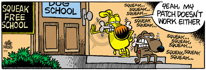 Comic Strip Mike Peters  Mother Goose and Grimm 2015-03-21 bone