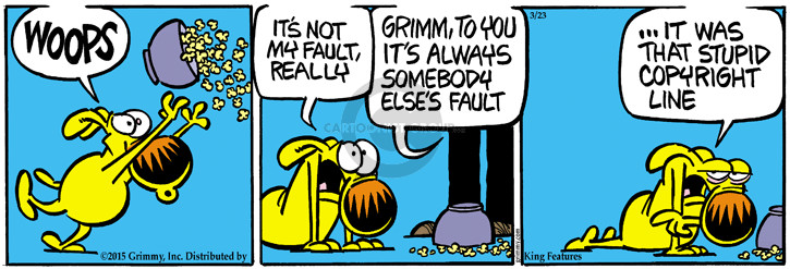 Cartoonist Mike Peters  Mother Goose and Grimm 2015-03-23 personal