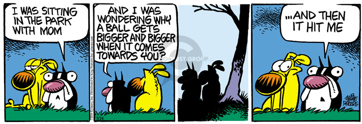 Comic Strip Mike Peters  Mother Goose and Grimm 2015-03-24 eyesight