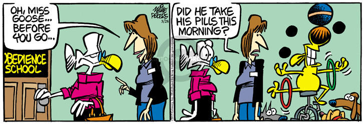 Cartoonist Mike Peters  Mother Goose and Grimm 2015-03-28 medicine