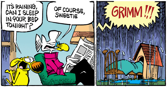 Cartoonist Mike Peters  Mother Goose and Grimm 2015-03-29 doghouse