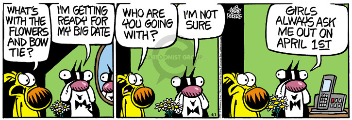 Cartoonist Mike Peters  Mother Goose and Grimm 2015-04-01 flower