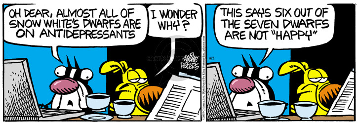 Cartoonist Mike Peters  Mother Goose and Grimm 2015-04-02 white