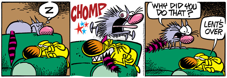 Comic Strip Mike Peters  Mother Goose and Grimm 2015-04-04 behavior