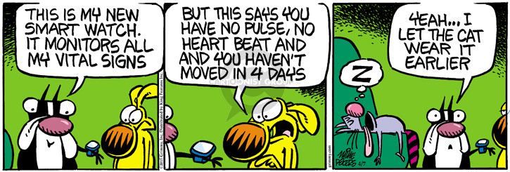 Cartoonist Mike Peters  Mother Goose and Grimm 2015-04-07 move