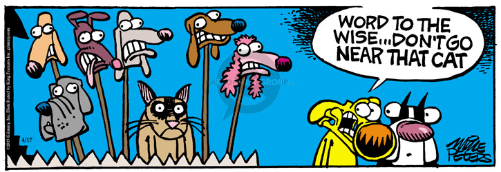 Comic Strip Mike Peters  Mother Goose and Grimm 2015-04-17 dog and cat