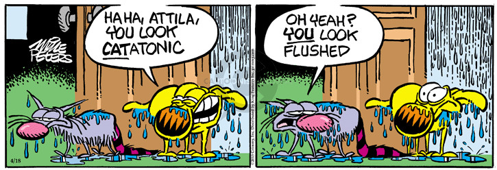 Comic Strip Mike Peters  Mother Goose and Grimm 2015-04-18 wet