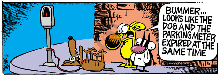 Cartoonist Mike Peters  Mother Goose and Grimm 2015-04-27 dog park