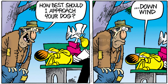 Cartoonist Mike Peters  Mother Goose and Grimm 2015-05-03 wind