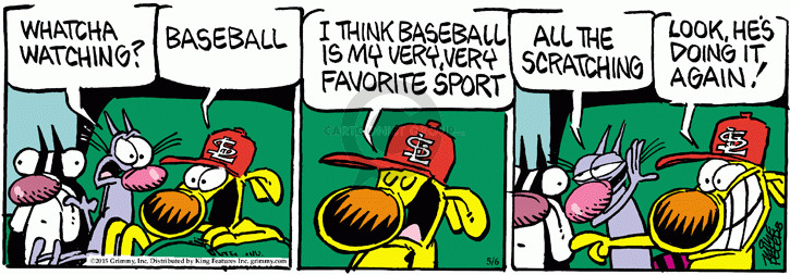 Comic Strip Mike Peters  Mother Goose and Grimm 2015-05-06 baseball