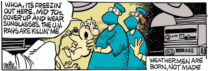 Comic Strip Mike Peters  Mother Goose and Grimm 2015-05-07 eye