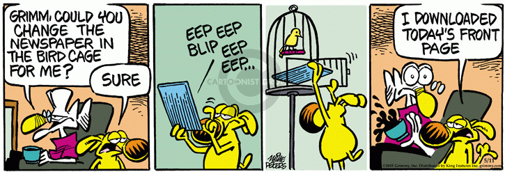 Comic Strip Mike Peters  Mother Goose and Grimm 2015-05-18 newspaper