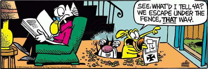 Cartoonist Mike Peters  Mother Goose and Grimm 2015-05-11 dig