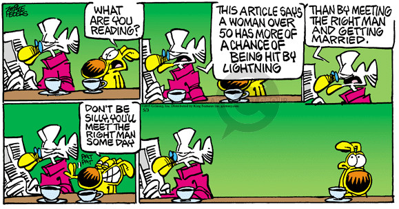 Comic Strip Mike Peters  Mother Goose and Grimm 2015-05-17 meet