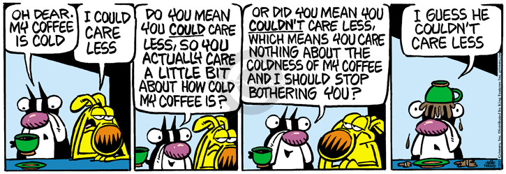 Comic Strip Mike Peters  Mother Goose and Grimm 2015-05-21 cold