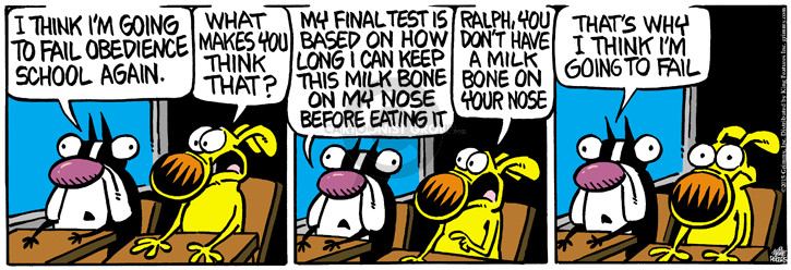Cartoonist Mike Peters  Mother Goose and Grimm 2015-05-22 dog bone