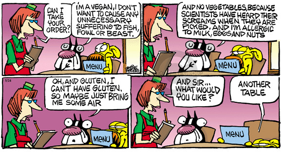 Comic Strip Mike Peters  Mother Goose and Grimm 2015-05-24 restaurant server