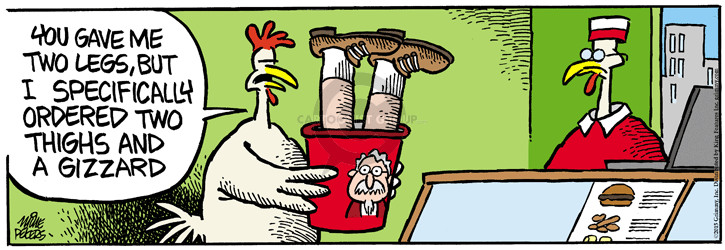 Cartoonist Mike Peters  Mother Goose and Grimm 2015-05-27 bucket