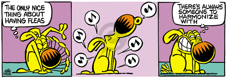 Cartoonist Mike Peters  Mother Goose and Grimm 2015-05-30 dog flea