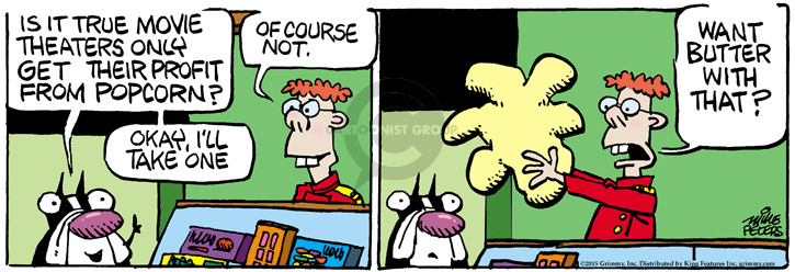 Comic Strip Mike Peters  Mother Goose and Grimm 2015-06-05 butter