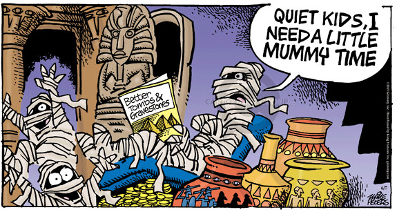 Comic Strip Mike Peters  Mother Goose and Grimm 2015-06-07 tomb