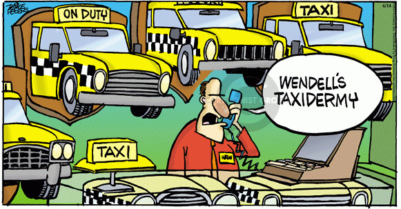 Comic Strip Mike Peters  Mother Goose and Grimm 2015-06-14 taxi