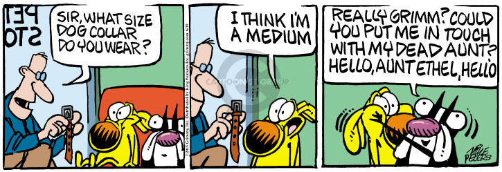 Comic Strip Mike Peters  Mother Goose and Grimm 2015-06-19 collar