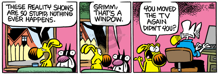 Cartoonist Mike Peters  Mother Goose and Grimm 2015-06-24 move