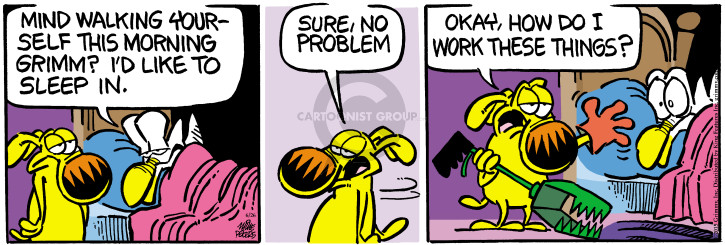 Cartoonist Mike Peters  Mother Goose and Grimm 2015-06-26 no problem
