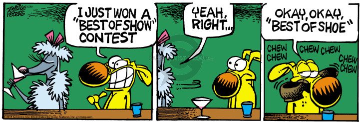 Cartoonist Mike Peters  Mother Goose and Grimm 2015-06-30 dog show