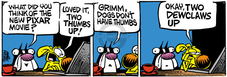 Comic Strip Mike Peters  Mother Goose and Grimm 2015-07-01 toe