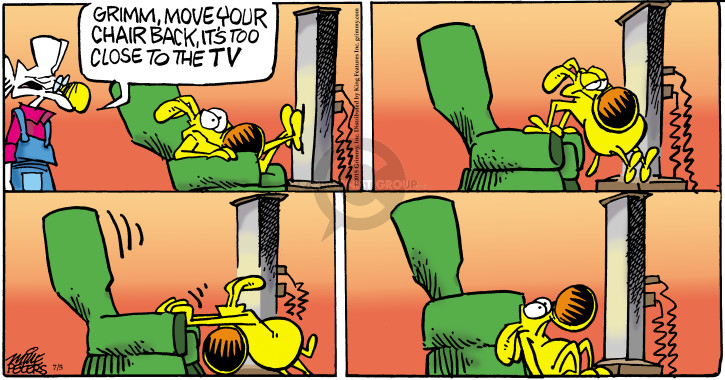 Comic Strip Mike Peters  Mother Goose and Grimm 2015-07-05 television viewer
