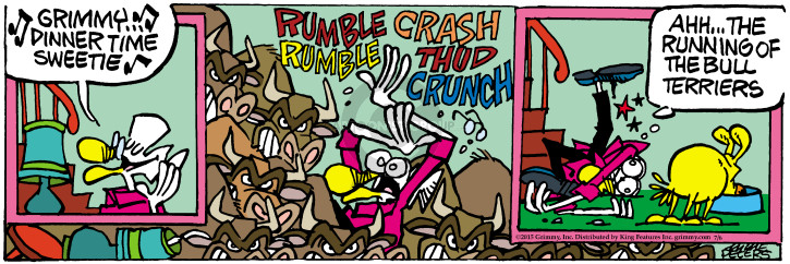 Cartoonist Mike Peters  Mother Goose and Grimm 2015-07-06 bull