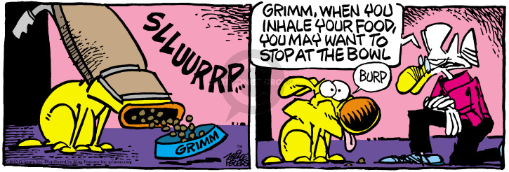Comic Strip Mike Peters  Mother Goose and Grimm 2015-07-08 burp