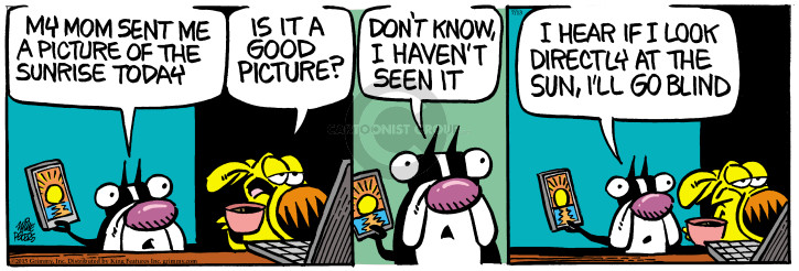 Comic Strip Mike Peters  Mother Goose and Grimm 2015-07-13 blind