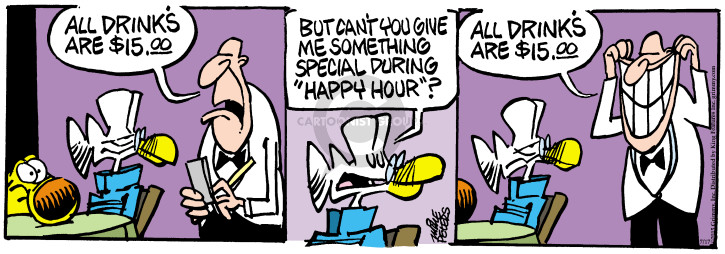 Comic Strip Mike Peters  Mother Goose and Grimm 2015-07-17 restaurant server