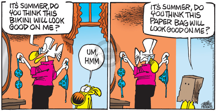 Comic Strip Mike Peters  Mother Goose and Grimm 2015-07-19 clothes