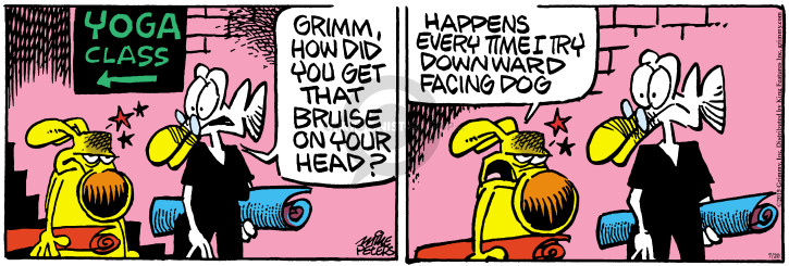 Cartoonist Mike Peters  Mother Goose and Grimm 2015-07-20 exercise
