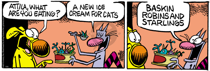 Comic Strip Mike Peters  Mother Goose and Grimm 2015-07-21 ice cream